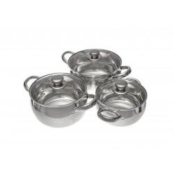 VETTA Набор кухонной посуды 6 пр., кастрюли 1,7л+2,4л+2,9л, с крышками d16+d18+d20, KG06A026