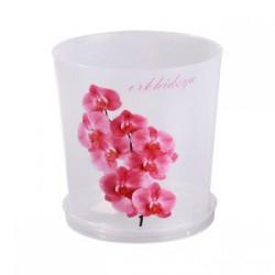Горшок Альт д/орхидеи 1,8л М1604 прозрачн