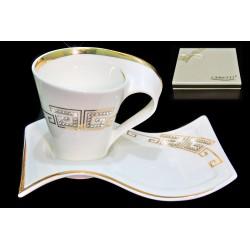 LENARDI 108-079 Кофейный набор 2пр.90мл. в под.уп. GIVENCHI GOLD (х24) Фарфор