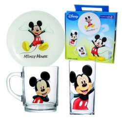 Luminarc Disney Colors Mickey 5320 набор 3пр (тарелка, кружка, стакан)