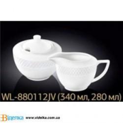 Набор сахарница+молочник WL-880112-JV (340мл+280мл) инд.уп
