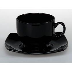 Чашка + блюдце Арк Квадрато Чёрн. 220мл