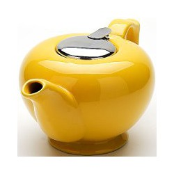 23060-1 Заварочный чайник ОРАНЖЕВЫЙ 1,2л КЕРАМИКА LR
